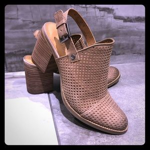 Franco Sarto perforated leather clog